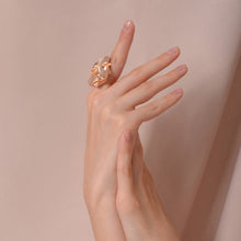 Load image into Gallery viewer, Rose Gold FOLD Open Ring - shopcurious