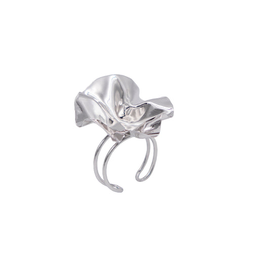 White Gold FOLD Open Ring - shopcurious