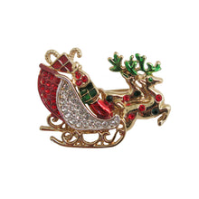 Load image into Gallery viewer, Santa's Sleigh Brooch - shopcurious