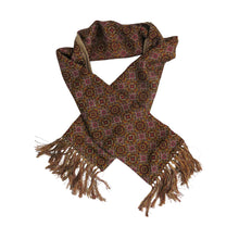 Load image into Gallery viewer, Men's Scarf – Vintage Silk and Camel Wool, J Oxford - shopcurious