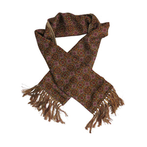 Men's Scarf – Vintage Silk and Camel Wool, J Oxford - shopcurious