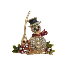 Load image into Gallery viewer, Festive Snowman Brooch - shopcurious