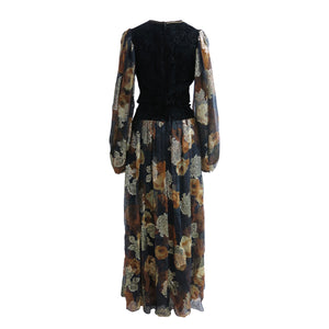 Boho 1970s Vintage Long Dress by Thea Porter Couture - ShopCurious