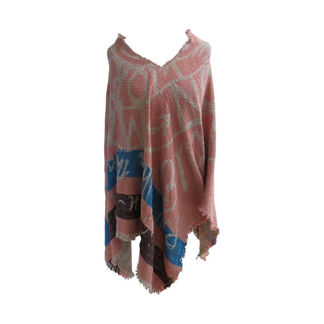 Vivienne Westwood Powder Pink Mirror the World Poncho - shopcurious