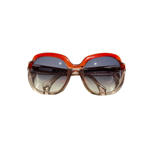 Lanvin Vintage Red and Clear Perspex Sunglasses - shopcurious