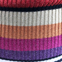 Load image into Gallery viewer, Catherine Malandrino Striped Lurex Wool V-Neck Jumper - shopcurious
