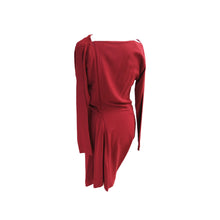 Load image into Gallery viewer, Vivienne Westwood Anglomania Russet Red Asymmetric Fond Dress - shopcurious