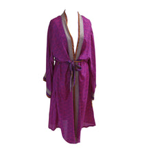 Load image into Gallery viewer, Recycled Sari Fabric Kimono Jacket/Dressing Gown - shopcurious