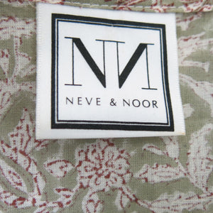 Block Printed Tiered Long Dress by Neve and Noor - shopcurious