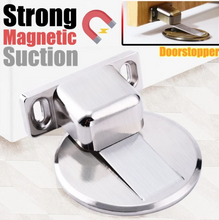 Load image into Gallery viewer, Stainless Steel Invisible Magnetic Door Stopper