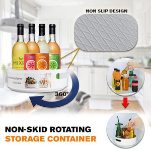Non-Skid Rotating Storage Container