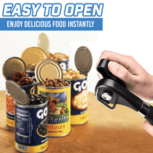 Load image into Gallery viewer, Safe Stainless Steel Cutting Can Opener