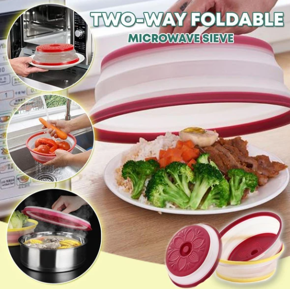 Two-way Foldable Microwave Sieve