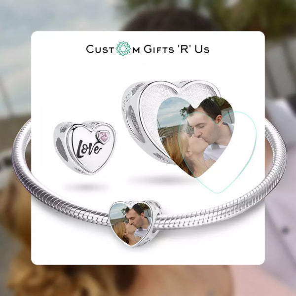 Lover Photo Heart Charm