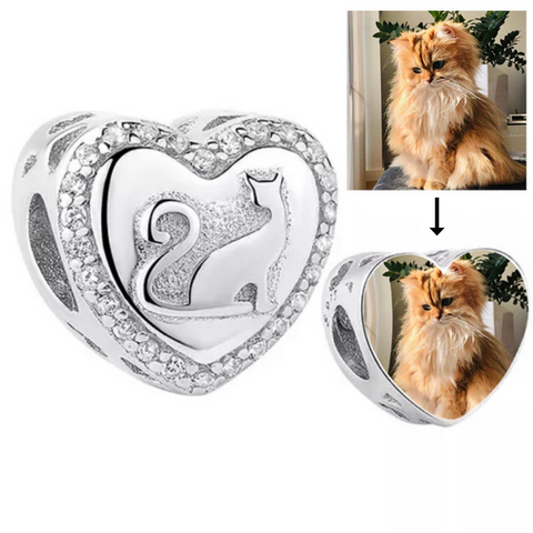 Cat Lover Photo Charm
