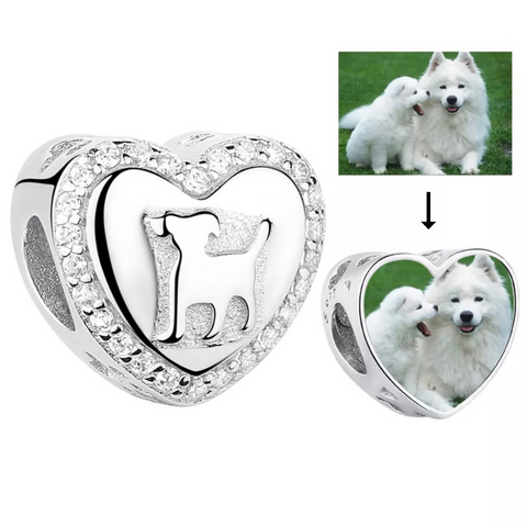 Pet Dog Photo Charm