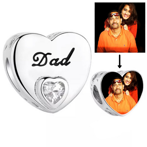 Dad's Love Photo Charm