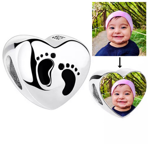 Baby's Footprint Photo Charm