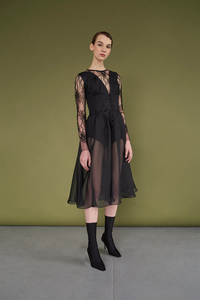 Monic Silk Organza Dress