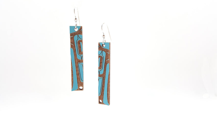 Laser Cut Bar Earrings