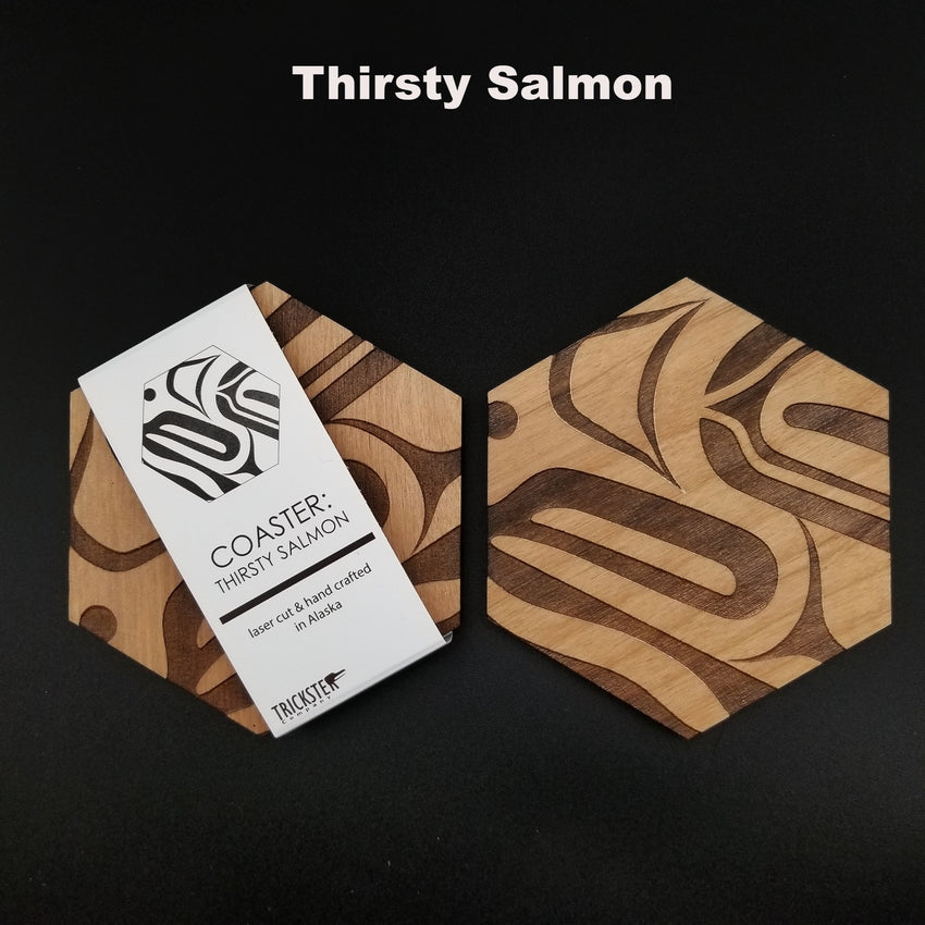 Laser-cut Wood Coasters  (Pairs)