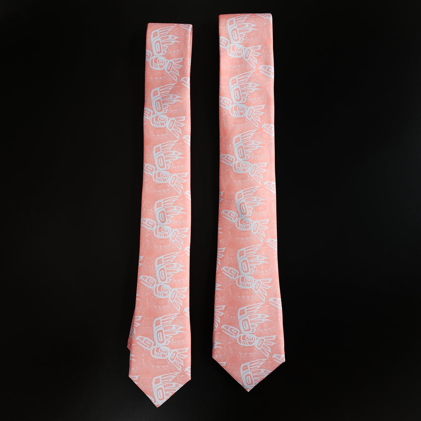 Coral Eagle Raven Tessellation Tie