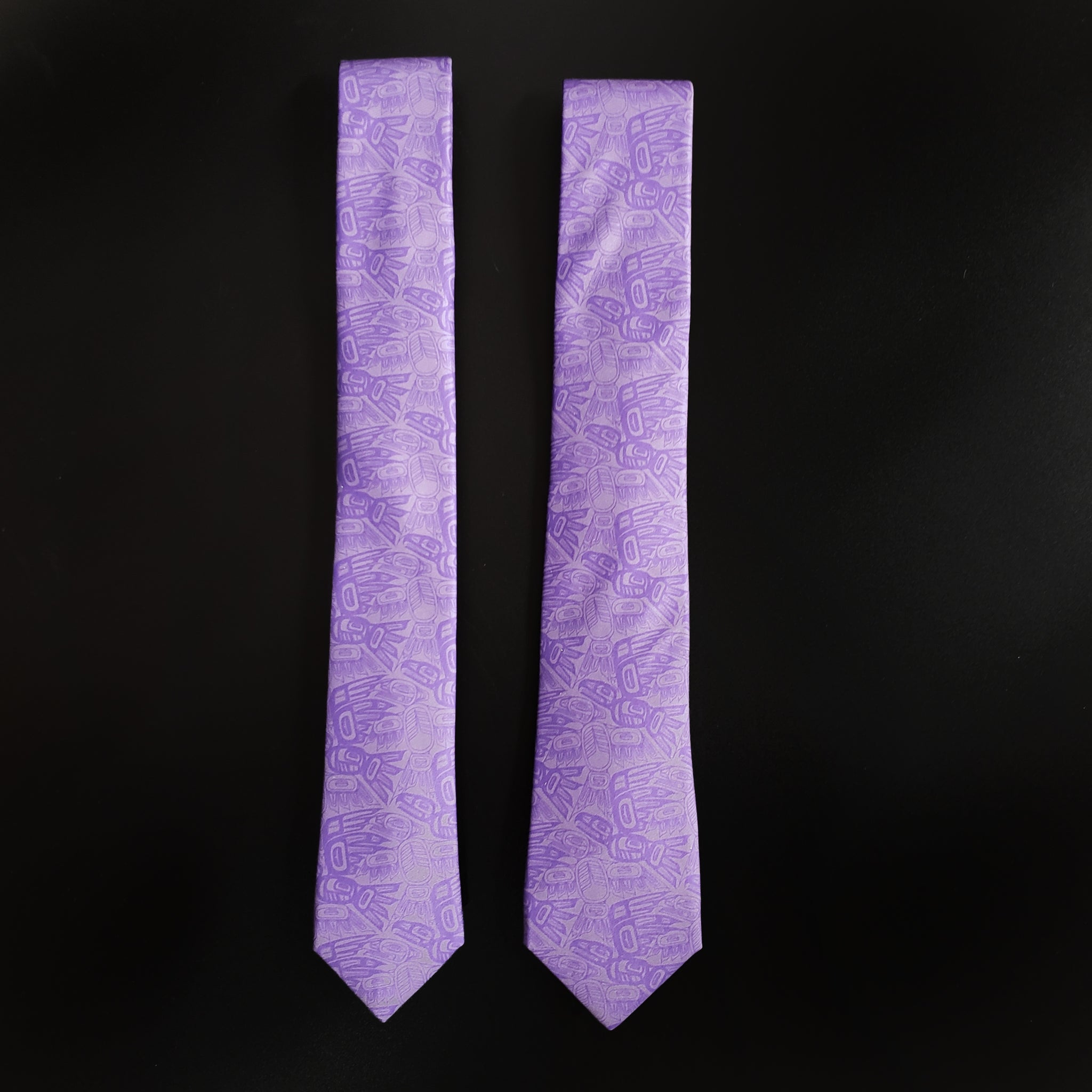 Purple Eagle Raven Tessellation Tie