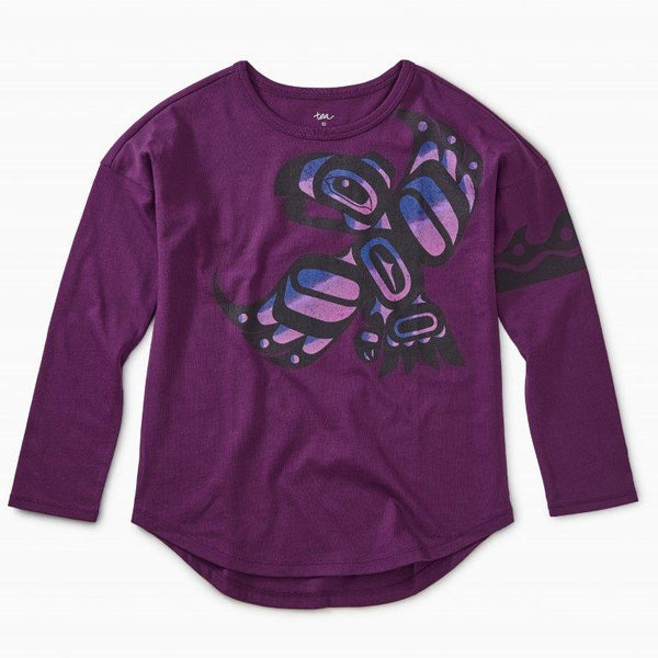 Girl's Raven & Sun Long Sleeve Shirt