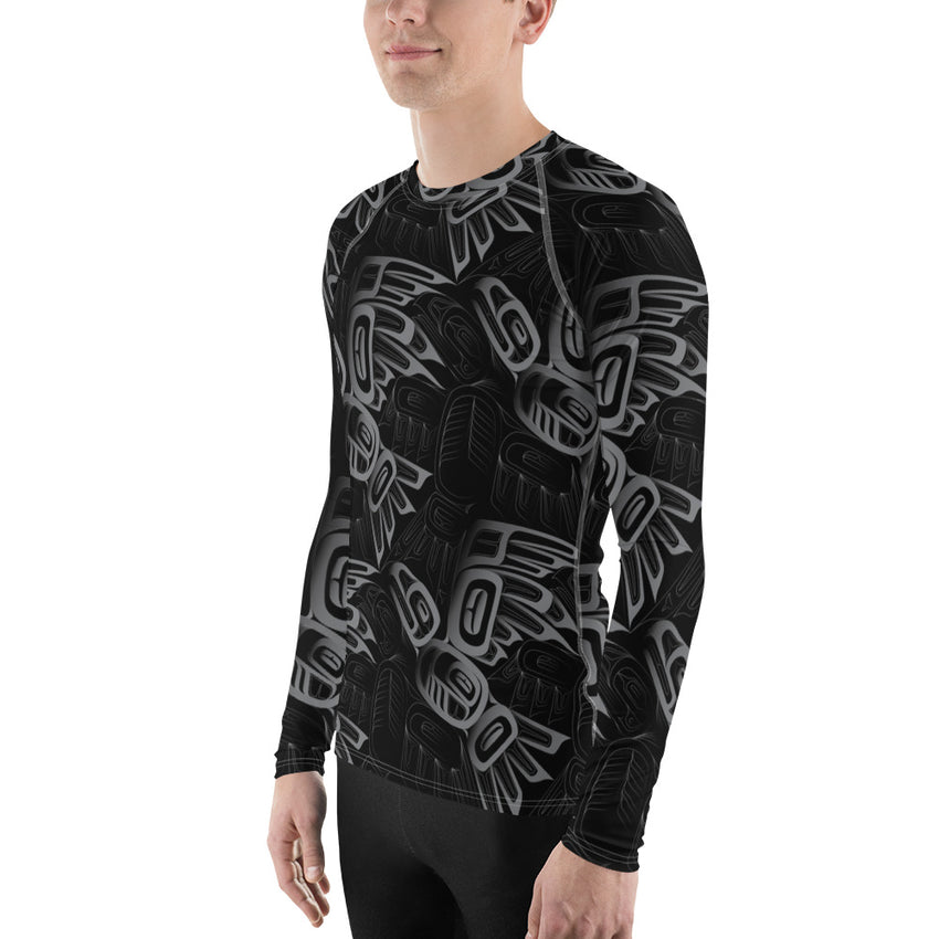 Men's Eagle Raven Tessellation Long Sleeve Top