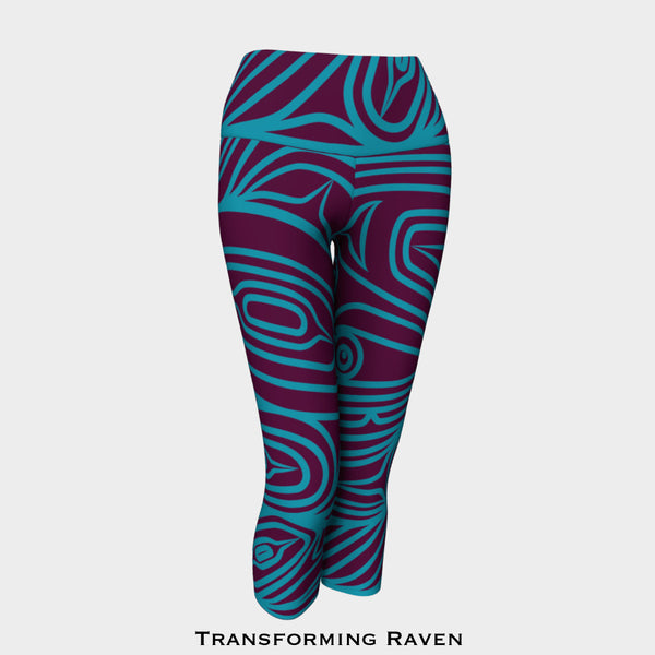 Transforming Raven Capri Leggings