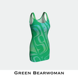 Green Bearwoman Bodycon Dress