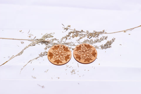 Laser Cut Earrings Natural Color by Crystal Worl
