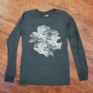 Eagle Raven Tessellation Long Sleeve  Tee