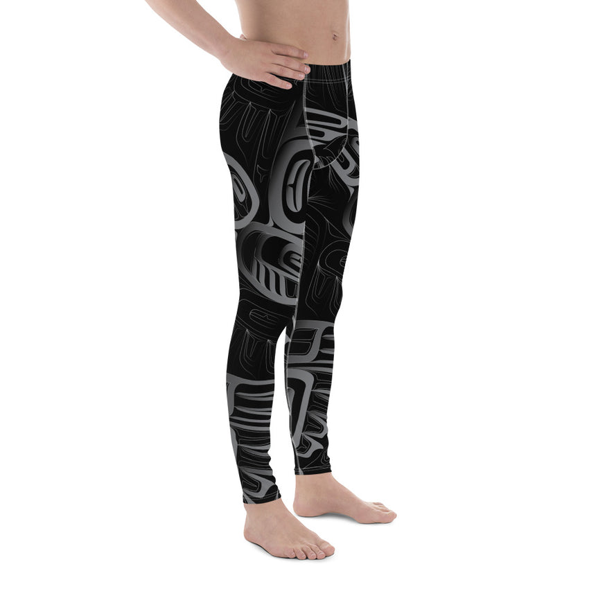 Men's Eagle Raven Tessellation Athletic Leggings