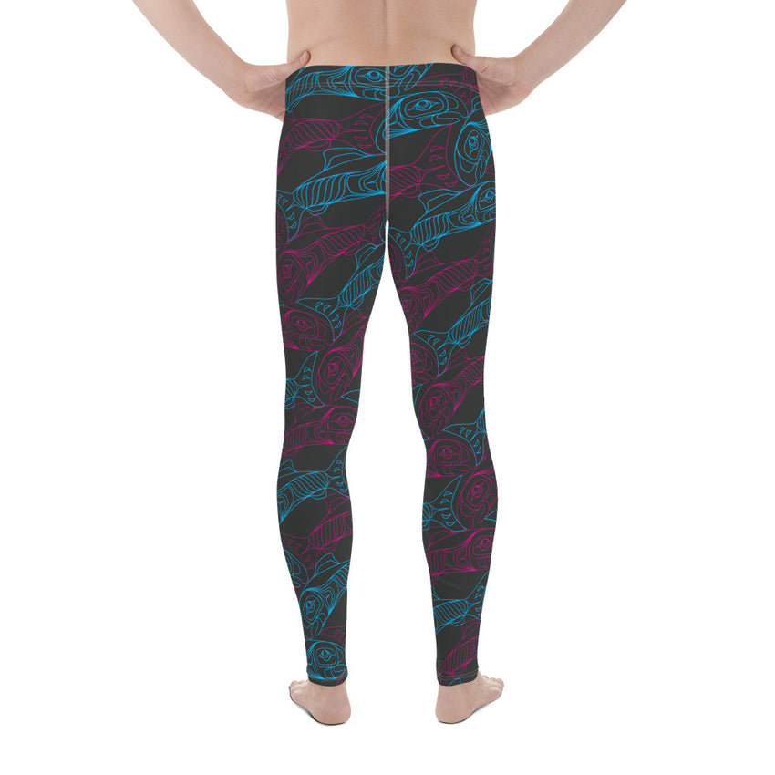Men's Salmon Tessellation Athletic Leggings