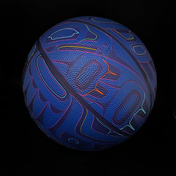 Midnight Beast Adult Basketball (Multi-Tone Blue)