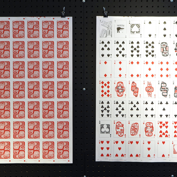 Uncut Sheet of Trickster Co. Playing Cards