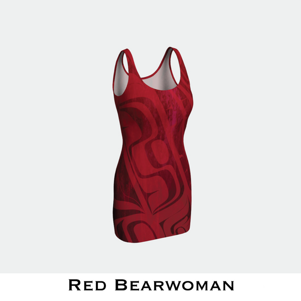Red Bearwoman Bodycon Dress