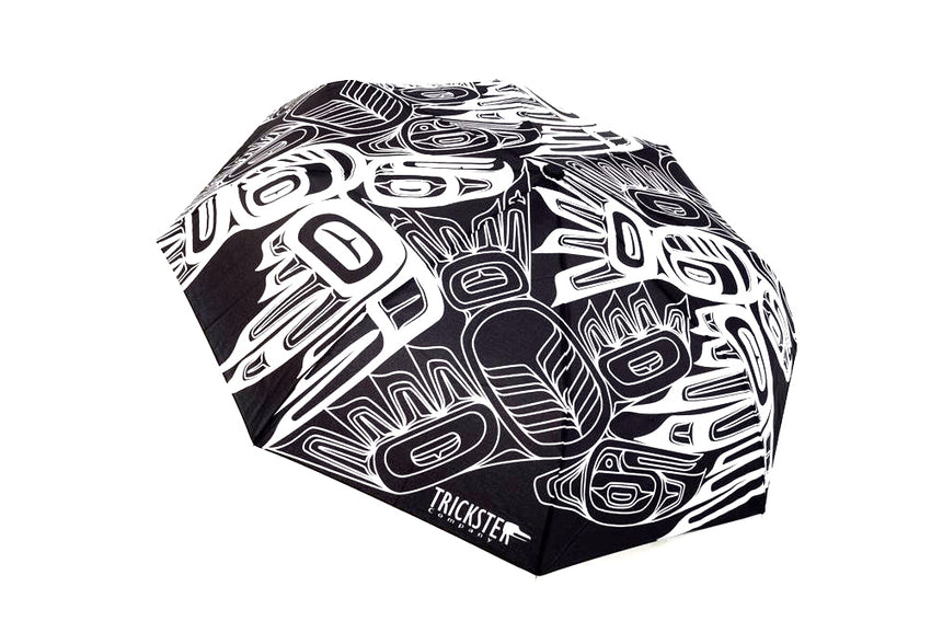 Eagle Raven Tessellation Umbrella
