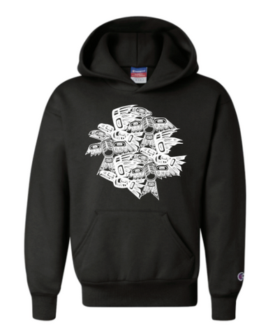 Youth Eagle Raven Tessellation Hoody