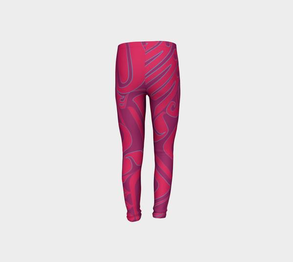 Three Pink Ravens Youth Leggings