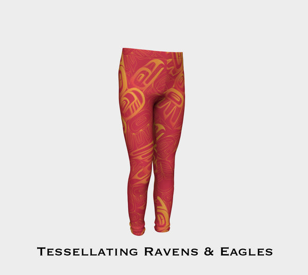 Eagle and Raven Tessellation Youth Leggings