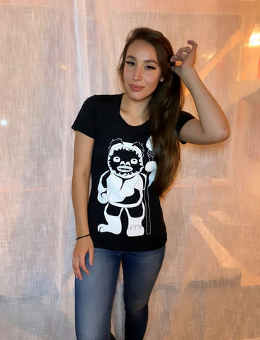 Women's Ewok Tee - Black/White