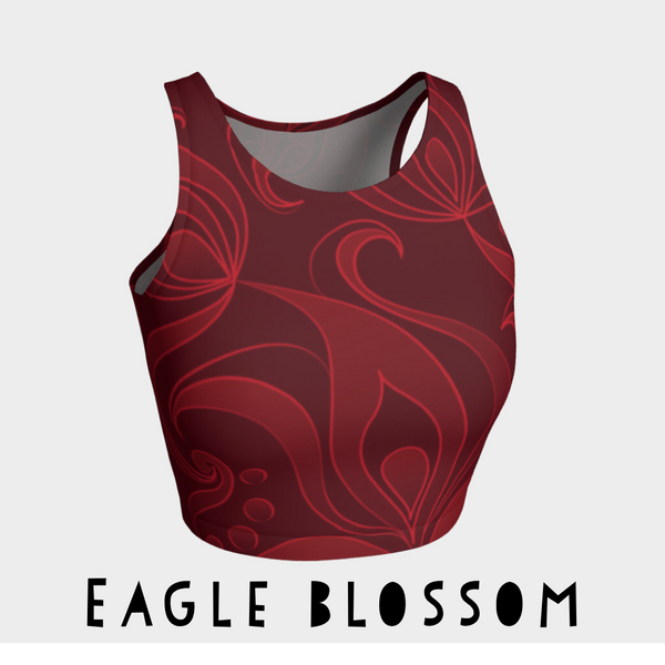 Eagle Blossom Athletic Crop Top