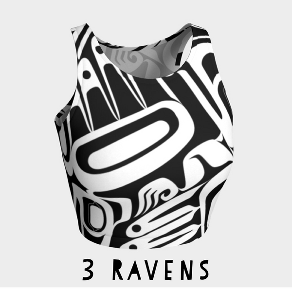 Three Ravens Crop Top