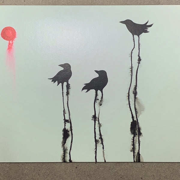 Ravens in the Cloud - Note Card