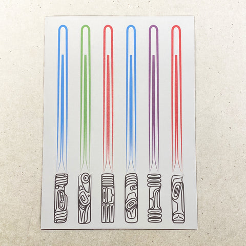 Lightsabers Note Card