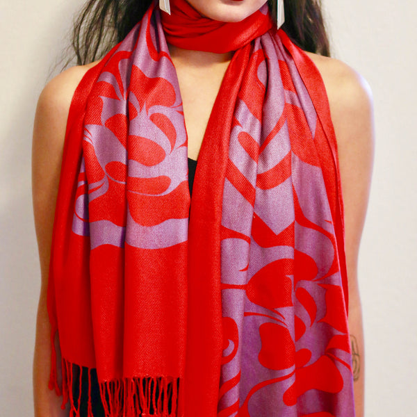 Silk Screen Printed Shawls