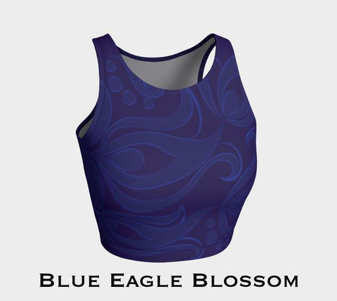 Blue Eagle Blossom Athletic Crop Top