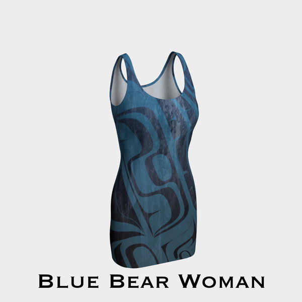 Blue Bearwoman Bodycon Dress